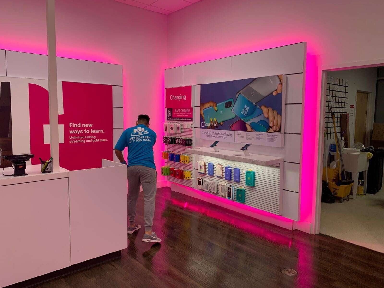 T-Mobile Floor Cleaning